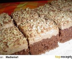 Pařížské řezy jednoduché Baking Recipes, Cake Recipes, Dessert Recipes, Czech Recipes, Sweets Cake, Mini Cheesecakes, Healthy Diet Recipes, Christmas Sweets, No Bake Cake