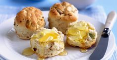 With the addition of toasted muesli, these scones make an ideal mid-morning snack. Lunch Box Recipes, Brunch Recipes, Snack Recipes, Scone Recipes, Healthy Recipes, Healthy Lunches, Drink Recipes, Healthy Foods, Healthy Eating