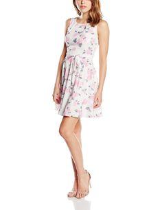 Vestido hipster mujer sin mangas ideal para esta primavera - verano, original con un diseño estampado de rosas con fondo blanco.