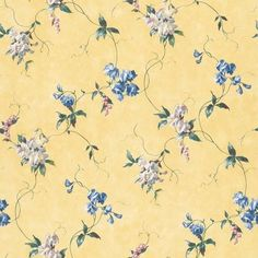 Floral Wallpaper - BC1580272 from Design by Color/Yellow book