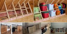 Gorgeous Attic storage overland park,Attic spaces renovation and Attic renovation calgary. Attic Organization, Attic Storage, Bike Storage, Hidden Storage, Storage Spaces, Attic Closet, Attic Playroom, Attic Ladder, Attic Stairs