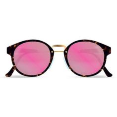 Super Panama Burnt Havana RETROSUPERFUTURE ($290) ❤ liked on Polyvore featuring accessories, eyewear, sunglasses, glasses, home, round, women's, rounded glasses, round lens glasses and round lens sunglasses