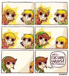 Guess Zelda prefers blondes.