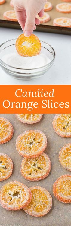 With this simple recipe, you can enjoy the Candied Orange Slices dipped in chocolate or use them to decorate your favorite dessert. #candy #orange