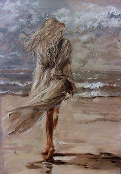 Monika Luniak – Paintings for Sale – Art – Malerei Oil Painting On Canvas, Figure Painting, Art Graphique, Urban Art, Painting Inspiration, Female Art, Amazing Art, Art Decor, Art Drawings