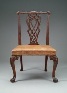 Chair, 1750-1760.  Made by T. Hooper; England.  (30.726)  *owned in Boston by a Lt.Gov.
