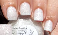 Lynnderella Snow Angel Nail Polish over White