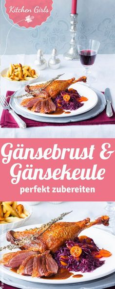 Gänsebrust und -Keule mit Rotkohl und Schupfnudeln Instructions How to Prepare Goose Breast and Goose Mace – with helpful tips & tricks Classic Thanksgiving Menu, Traditional Thanksgiving Menu, Vegan Thanksgiving, Thanksgiving Side Dishes, Goose Breast Recipe, Benefits Of Potatoes, Cabbage And Potatoes, Potato Recipes, Soup Recipes