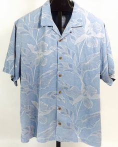 Tommy Bahama Blue Hawaiian Shirt XL   eBay