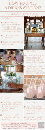 what do I need for a drinks station checklist-how to style a drinks station
