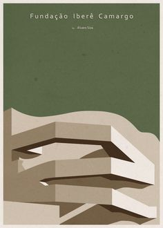 Architizer Blog » Architecture Rendered Minimally: Illustrator Turns Iconic Buildings Into Minimalist Posters