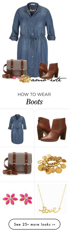 Chambray - Plus Size by amo-iste on Polyvore featuring maurices, Ted Baker, Sole Society, Minnie Grace, Kate Spade and Chanel Women Big Size Clothes - http://amzn.to/2ix7dK5
