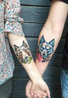 Tatuajes De Lobos Para Parejas Tatuajes Pinterest Tatuajes De