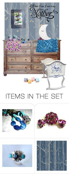 """All that I am I owe to my mother"" by annacullart ❤ liked on Polyvore featuring art, contestentry and crazy4etsy"