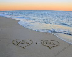 YOU & ME Sand Writing by BeachBabyKisses on Etsy, $10.00