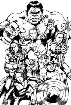 Best Avengers Team Coloring Pages