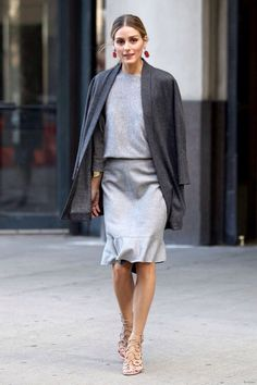 All about Olivia Palermo Grey Fashion, Office Fashion, Fashion 2017, Fashion Trends, Urban Fashion, Olivia Palermo Outfit, Olivia Palermo Lookbook, Olivia Palermo Style, Street Style 2016