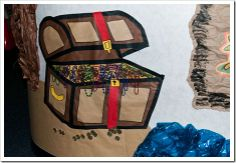 mAKE AN actual treasure chest to go with our classroom look with prizes for good beh