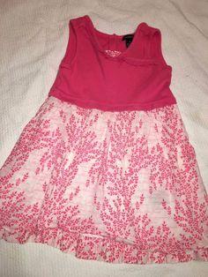 Calvin Klein Jeans Girls Size 6X Dress Pink & White Summer Floral Stylish #CalvinKlein #EverydayHoliday