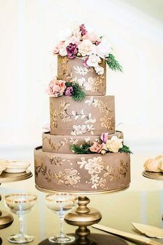 Gorgeous Textured Wedding Cakes Ideas ❤️ See more: http://www.weddingforward.com/textured-wedding-cakes/ #weddings