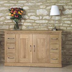 Mobel Oak Six Drawer Sideboard - COR02B