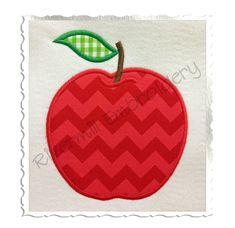 $2.95Applique Apple Machine Embroidery Design (Style