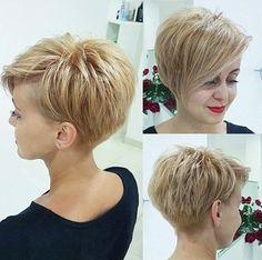 Diese 10 Schnitte sind perfekt für Frauen, die gerne eine Kurzhaarfrisur tragen, aber lieber mit etwas mehr Länge … - Seite 2 von 10 - Neue Frisur