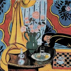 """""""Harmony in Yellow"""" by Henri Matisse.  Matisse, Picasso and Duchamp are considered to have redefine art as we know it at the beginning of the C20th. The vigour and vitality of Matisse's portraits, interiors  still life have earned him renown as a key figure in modern art."""