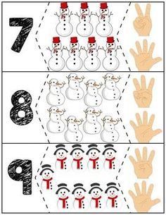 Teach counting skills with these snowmen! Great for teaching counting skills and number recognition for Quick prep and great for math centers! Life Skills Lessons, Teaching Life Skills, Teaching Kids, Winter Activities For Toddlers, Autism Activities, Craft Activities, Numbers Preschool, Math For Kids, Xmas Crafts