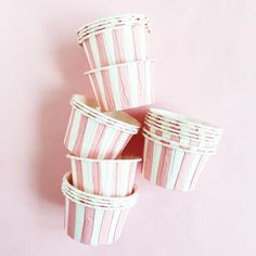 Striped Candy Cups: Pink