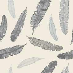 Grey Goose Feathers Removable Wallpaper Wall Decal