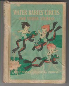 Cute - 1940 GEORGIANA BROWNE WALT DISNEY ART WATER BABIES' CIRCUS HARDCOVER BOOK