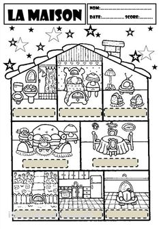 label the rooms of a house in spanish printout enchantedlearning cra spanish class. Black Bedroom Furniture Sets. Home Design Ideas