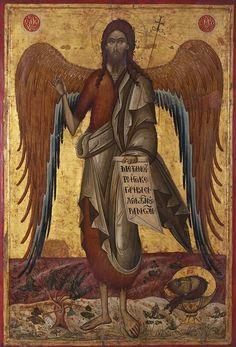 Byzantine Icons, Byzantine Art, Catholic Art, Religious Art, Roman Catholic, Jesus Christ Images, Russian Icons, John The Baptist, Spirituality