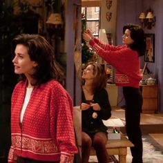 She wore the best sweaters