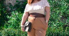 Off the shoulder dress, wide leg pants, Gucci bag, dress with pants outfit, summer trend, heels, curvy fashion blogger, plus size, blonde