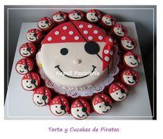 #cake #piratas #cupcakes