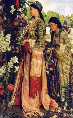 John Frederick Lewis, Lilium Auratum, 1871, Oil on canvas, 136,6 x 87,5 cm, Birmingham Museums and Art Gallery