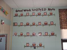 Super cute!  I almost want to change my classroom theme to owls now...