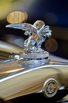 1929 Gardner Series 120 Eight-in-Line Roadster Hood Ornament 3 - Jill Reger - Photographic prints for sale