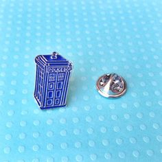 A TARDIS pin for when you're feeling wibbly wobbly. | 21 Geeky Pins To Show Off Your Favorite Fandom