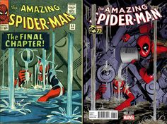 "Amazing Spider-Man (2014) #7 Incentive Michael Golden ""Deadpool 75th Anniversary Photobomb"" Variant"