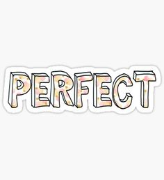 One Direction - Perfect Pegatina