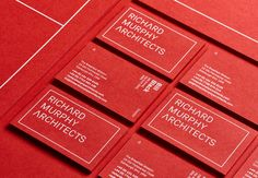 Graphic design and branding by Touch Agency for multi-award winning architectural practice, Richard Murphy Architects. Corporate Identity Design, Visual Identity, Brand Identity, Personal Identity, Business Cards Layout, Business Card Design, Stationery Design, Brochure Design, Brand Guide