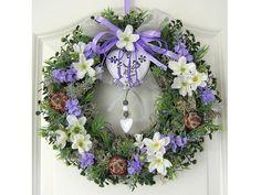 Türkranz Lavendel Wandkranz Kranz Sommer lila   von My Home Fashion auf DaWanda.com