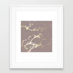 Kintsugi Ceramic Gold on Red Earth Framed Art Print