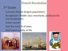 Common People, French Revolution, Life