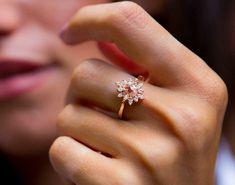 3.0Ct Pear Cut Peach Morganite Diamond Halo Engagement Ring 14K Rose Gold Finish | eBay