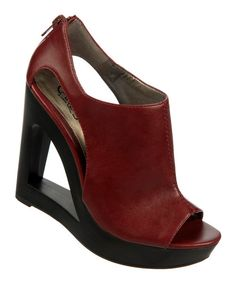 Take a look at this Carlos by Carlos Santana Wine Kiss Wedge on zulily today! These are fun!
