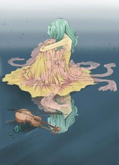 Manga A a rather somber Sailor Neptune fanart. I like that she isn't playing the violin. Sailor Neptune, Arte Sailor Moon, Sailor Moon Fan Art, Sailor Mars, Sailor Moon Crystal, Manga Anime, Anime Art, Sad Anime, Sailor Scouts